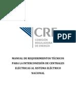 Codigo Red_manual de Interconexión de Centrales Eléctricas