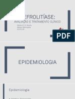 Nefrolitíase - Avaliação e Tto Clínico (8° período)