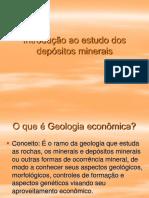 Aula 1 - Introdução Ao Estudo Dos Depósitos Minerais