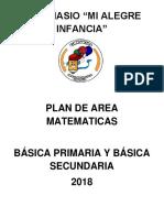 Plan de Area de Matematicas Terminado Gmai - 2019