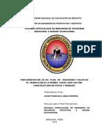IMPLEMENTACIÓN DE UN PLAN DE SEGURIDAD Y SALUD EN EL TRABAJO BAJO LA NORMA OHSAS 18001