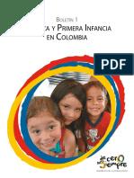 Boletín No. 1 Pobreza y Primera Infancia en Colombia