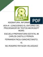 Ada 1, Fernanda Paola Sanchez Basto.