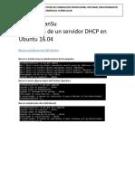Instalación de Un Servidor DHCP en Ubuntu 16
