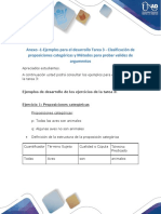 Anexo -1-Ejemplos para el desarrollo Tarea 3 - Clasificación de proposiciones categóricas y Métodos para probar validez de argumentos (1).pdf