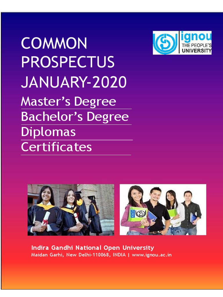 Ignou January 2020 Prospectus Bachelor S Degree Academic Degree
