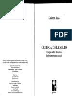 Grinor Rojo, Crítica Del Exilio, Capt. 2