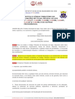 Tema 1-Código Tributário de Itajaí