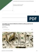 Los países con menos inflación de América Latina