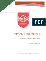 Ciências Forenses II - Prof. Pedro Almeida