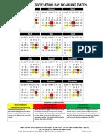Association Pay Deadline Calendar