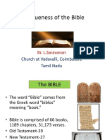 Uniqueness of the Bible. PPT - L.Saravanan.pdf