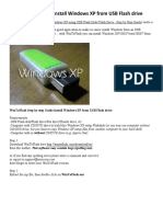 Win to Flash Guide - Install Windows XP From USB Flash Drive