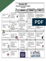 December Activity Calendar - Trollwood