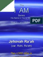 I AM - Week 8 - Jehovah Rohi
