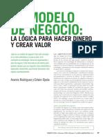 El Modelo de Negocios La Logica Para Hacer Dinero y Crear Valor