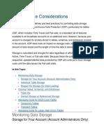 DataStorage Considirations