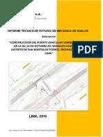 Informe Técnico de Estudio de Mecánica de Suelos