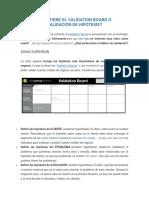 QUÉ PARTES TIENE EL VALIDATION BOARD O TABLERO DE VALIDACIÓN DE HIPÓTESIS