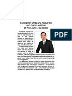 Guidebook on Legal Research and Thesis Writing by Atty. Alvin T. Claridades