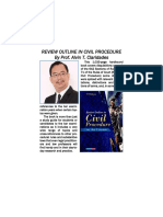 Review Outline in Civil Procedure by Prof. Alvin T. Claridades