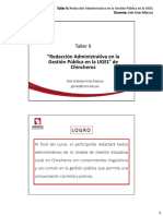 Pegp Ugelch Ppt Taller II Redaccion Administrativa 1