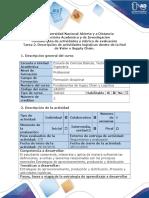 Guía de Actividades y Rúbrica de Evaluación - Tarea 2 - Descripción de Actividades Logísticas Dentro de La Red de Valor o Supply Chain