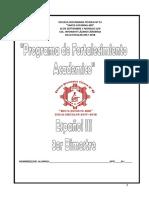 Propuesta de fortalecimiento académico
