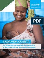 Cada Vida Cuenta. La Urgente Necesidad de Poner Fin a Las Muertes de Recién Nacidos