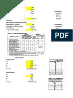 Excel Carga de viento en una armadura de techo