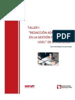 Pegp Ugelch Gm Taller i Redaccion Administrativa
