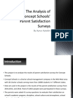 the analysis of concept schools parent satisfaction survey