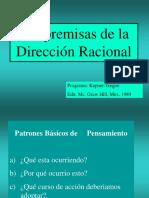 5.2 Premisas de La Direccion Racional