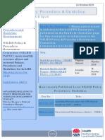 NSLHD Policy Procedure Guideline Communique 14 Oct 2019