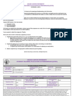 gcu student teaching evaluation of performance  step  standard 1 part i - signed  1