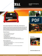 Duracell PowerPack 600 HD Specifications