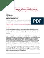 IELTS Reading Test Item Production(1)