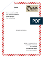 RESUMEN CAPITULO 1 ADMINISTRACION MODERNA 1