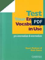 Test Your English Vocabulary in Use - Pre-Intermedia & Intermediate