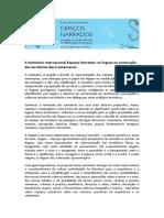 II Seminário Internacional Espaços Narrados_prorrog