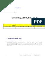 E-Banking Admin FRS v1.0