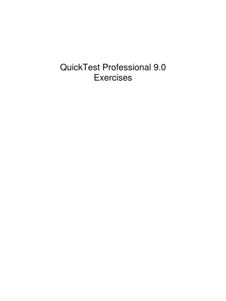 Quicktest Professional Unplugged 2nd Edition By Tarun Lalwani Pdf