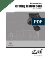 Mercedes engine Operator Manual