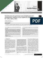 Transferencia de Personal Como Desplazamiento Excepcional - Autor José María Pacori Cari
