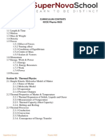 Curriculum Contents_IGCSE Physics 0625