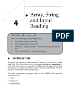 Array String and Input Reading