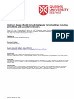 Design Cfsl Portal Frame Buildings Including Joint Effects Secondary Members
