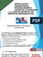 CLASE N° 004 Articulación intersectorial, responsabilidades e implementación de la Atención Primaria de Salud en los servicios farmacéuticos. No 4