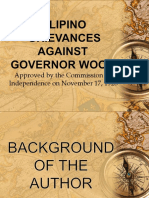 Filipino Grievances Against Governor Wood (1)