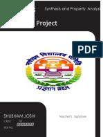 Shubham Joshi Chemistry Project